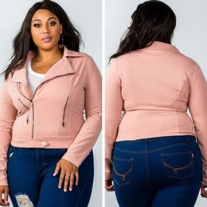 5b22e58543f3c Jackets   Blazers - TAMARA - Plus Size Asymmetric Zipper Moto Jacket